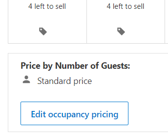 Price by Number of Guests: Standard price