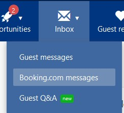 inbox booking messages